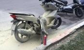 Hà Nội: Xe máy Honda PCX bốc cháy và phát nổ