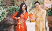 Nhật Tinh Anh và Cao Thùy Linh đón xuân mới trong trang phục áo dài