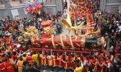 Tưng bừng lễ hội rước ông Pháo khổng lồ Đồng Kỵ