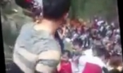 Clip nóng: Thanh niên tung cước, hỗn chiến như phim chưởng tại chùa Hương