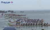 Đảo Lý Sơn tưng bừng đua thuyền truyền thống