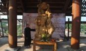 Chiêm ngưỡng tượng Bồ Đề Đạt Ma bằng gỗ nu nghiến lớn nhất Việt Nam