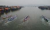 Nghệ An: Vạn người đổ về đền Cờn xem đua thuyền