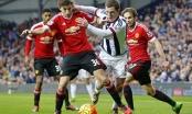 West Brom 1-0 MU (KT): 'Quỷ đỏ' thua trong thế thiếu người