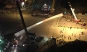 Nguyên nhân dầm cầu hàng chục tấn rơi trên đường Trần Duy Hưng