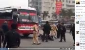 Clip: Xe khách gây tai nạn bỏ chạy nhưng không thành