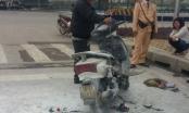 Hà Nội: Honda Lead bốc cháy dữ dội giữa ngã tư Big C