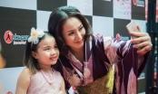 Thu Phượng rạng rỡ bên con gái trong ngày khai trương nhà hàng Nhật