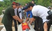 Thanh Hóa: An táng hài cốt 26 liệt sĩ hy sinh ở Lào tại nghĩa trang Bá Thước