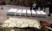 Đau đớn hình ảnh 8 chiếc quan tài nơi xe khách phát nổ tại Lào