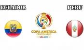 Trực tiếp Copa America 2016: Ecuador vs Peru - 9h ngày 9/6