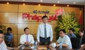 Bộ trưởng Lê Thành Long chúc mừng các cơ quan báo chí nhân ngày 21.6