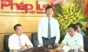 Bộ trưởng Lê Thành Long thăm, chúc mừng Báo Pháp Luật Việt Nam