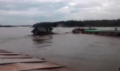 Clip lạnh người về vụ hai tàu đâm nhau khiến 4 người chết tại Thái Bình