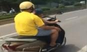 Sốc trước video em bé điều khiển xe chạy với tốc độ cao trên đường Tố Hữu, Hà Nội
