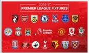Lịch thi đấu vòng 2 giải Ngoại Hạng Anh mùa giải 2016-2017