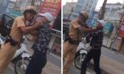 Hà Nội: Ngăn chặn đối tượng lạng lách, đánh võng, CSGT bị đánh tới tấp vào mặt