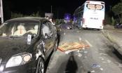 Video ghi lại vụ đấu đầu kinh hoàng giữa xe máy và ô tô ở Hà Giang