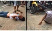 (Clip): 2 thanh niên bị đánh bầm dập vì nghi trộm xe máy