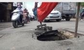TP HCM: Lại xuất hiện hố tử thần trên đường