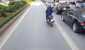 [Clip]: Buýt nhanh BRT phát khóc vì liên tục bị xe máy tạt đầu