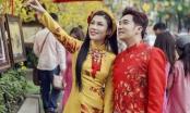 Quang Hà, Uyên Trang tình tứ dạo phố xuân