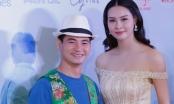 Xuân Bắc cười tít mắt khi đứng bên Hoa hậu biển Thuỳ Trang