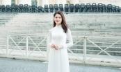 Á hậu Thùy Dung diện áo dài tham quan tòa thánh Vaticane