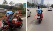 Hà Nội: Xác định danh tính người lái xe máy bằng chân đi vào đường BRT
