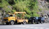 Đà Nẵng: Xe bán tải đâm xe khách trên đường dẫn Nam đèo Hải Vân, 6 người bị thương