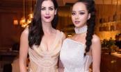 Kiều Ngân tự tin đọ sắc với Hoa hậu hoàn vũ Thế giới 2005