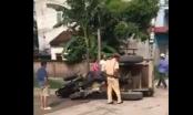 Hà Nội: Xe công nông bị lật khiến tài xế tử vong, Đội trưởng CSGT nói gì?