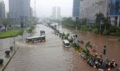 Có nơi lượng mưa lên hơn 120mm tại Hà Nội
