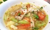Mát lành canh cá thát lát nấu cải xanh