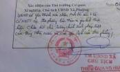 UBND tỉnh Thanh Hóa vào cuộc vụ Chủ tịch xã bút phê trái quy định