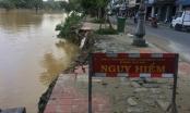 Chùm ảnh: Bờ kè sông Đông Ba vỡ nát, cảnh báo sơ sài
