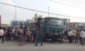 TP HCM: Xe ben đâm trúng xe máy,  2 vợ chồng tử vong thương tâm