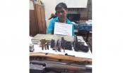 Sơn La: Bắt đối tượng cùng 10 bánh heroin và 4 khẩu súng