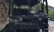 Đà Nẵng: Xe khách bốc cháy trên đèo Hải Vân, 29 hành khách thoát chết