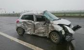 Thái Bình: Tai nạn giao thông trên cao tốc Thái Hà, xe container lao xuống sông