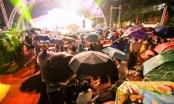 Người dân Hà Nội đội mưa dự khai trương phố đi bộ Trịnh Công Sơn