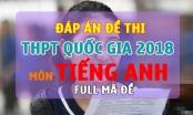 Đáp án đề thi THPT Quốc gia 2018 môn Tiếng Anh Full mã đề chính xác