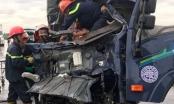 Tai nạn kinh hoàng tuyến đường tránh TP Vinh nạn nhân kẹt cứng trong cabin xe biến dạng