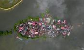Khu dân cư Hà Nội thành ốc đảo hình cá giữa biển nước ngập