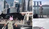 Thanh niên mặc đồ giống quần áo phạm nhân check-in ở Singapore khiến dân tình xôn xao