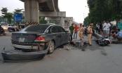Hé lộ nguyên nhân khiến người phụ nữ lái xe BMW tông hàng loạt xe máy, kéo lê cháu nhỏ trên đường