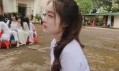 Thiên thần áo dài trắng, với góc nghiêng đẹp như tạc tượng