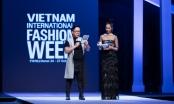 Dương Thuỳ Linh thay hai bộ đầm tại Vietnam International Fashion Week