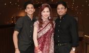 Hoa hậu Diệu Hoa được chồng và con trai út tháp tùng trình diễn thời trang tại Lễ hội Diwali