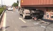 Bình Dương: Va chạm với container, 1 phụ nữ tử vong